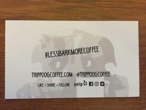 Tripp Dog Coffee Punch Cards Best Coffee in Salem Oregon